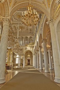 The Hermitage Museum, formerly The Winter Palace, Saint Petersburg Russia, photo by Eric Esquivel Architecture Baroque, Architecture Cool, Russian Architecture, Ancient Architecture, Beautiful Buildings, Beautiful Places, Beautiful Life, St Petersburg Russia, Winter Palace St Petersburg