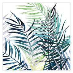 Exotic Foliage - Palm x Textured Matte Peel & Stick Wall Mural East Urban Home Self Adhesive Wallpaper, Wallpaper Roll, Peel And Stick Wallpaper, Wall Wallpaper, Herb Art, Plant Texture, Buy Wallpaper Online, Art Prints For Home, Design Repeats