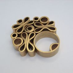 Ring | Teresa Arana. 'The Bouquet ' 18K Gold Plated Copper.- try idea in extruded polymer???