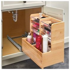 64 useful ideas how to do bathroom cabinet organization 27 – housedecor Bathroom Cabinet Organization, Diy Kitchen Storage, Storage Cabinets, Home Organization, Base Cabinets, Kitchen Cabinet Organizers, Under Cabinet Storage, Organizing, Bathroom Vanity Storage
