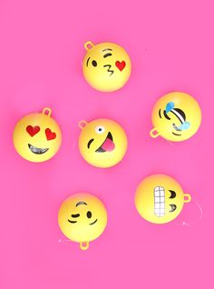 DIY Emoji Ornaments! Bring your favorite emojis to life on your Christmas tree!