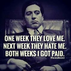 The Godfather quotes and dialogues are best which typically enhance the energy of the people. It is the film whose beautiful quotes and dialogues . Life Quotes Love, Boss Quotes, Wisdom Quotes, Great Quotes, Quotes To Live By, Love And Money Quotes, Cocky Quotes, Quotes Quotes, Godfather Quotes
