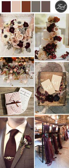 plum purple and grey elegant wedding color ideas by DeeDeeBean ...