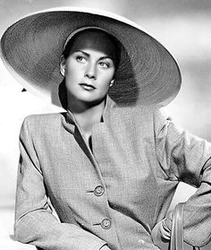 Italian movie actress Alida Valli, 1940s