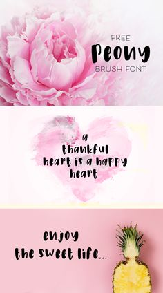Free Peony Brush Font by Sarah Rudkin - Free Pretty Things For You Cool Fonts, Awesome Fonts, Chocolate Font, Handwritten Quotes, Find Fonts, Digital Ink, Free Digital Scrapbooking, Brush Font, Typography