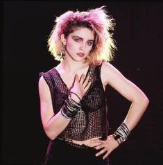 Madonna et son look punk à ses débuts #mode #style #look #80s #madonna #pop #punk #rock