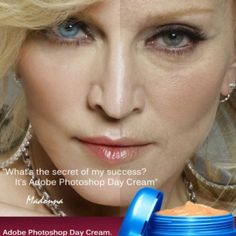 Adobe Photoshop Day Cream! If only this were real!  #funny #humor #people