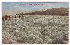 Ice on the river - St. Louis