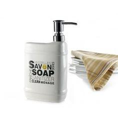 POM-DISTRIBUTEUR DE SAVON 23CM, BLANC Soap Dispenser, Room, White People, Soap Dispenser Pump