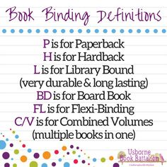 usborne book binding definitions Usbornebookbattalion.com Find me on Facebook, youtube, & instagram @usbornebookbattalion