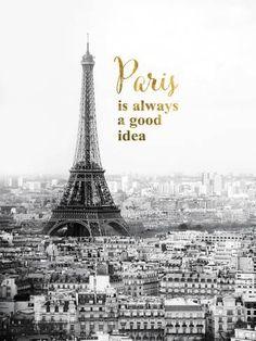 Giclee Print: Forever Paris by Irene Suchocki : 48x36in
