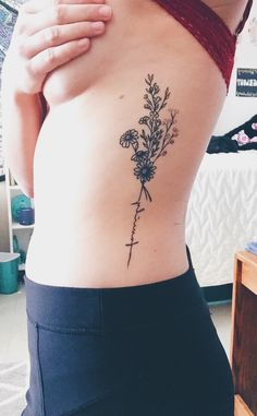 Minimalist Flower Bouquet Tattoo #tattoo