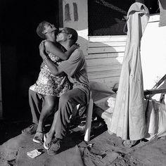 Lovers. Slabstone Informal Settlement, Cloetesville, South Africa. #southafrica #annerearick #agencevu  #flatrocksgallery  #embrace