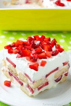 No Bake Strawberry Tiramisu