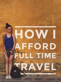 Wie Amelie es sich leisten kann, immer zu reisen