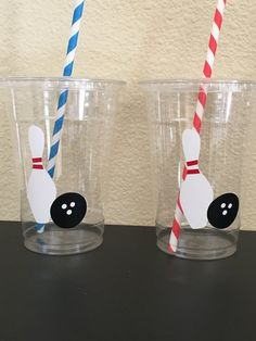 Bowling party cups by DivineGlitters on Etsy                                                                                                                                                     More