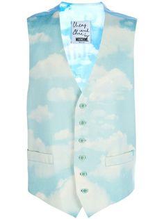MOSCHINO VINTAGE | Cloud Print Waistcoat