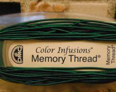DMC Color Infusions DARK GREEN Memory Thread 3 Yards #6330