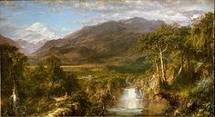 Landscape painting - Frederic Edwin Church, The Heart of the Andes, 1859. Church was part of the American Hudson River School.