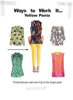 """Ways to Work It: Yellow Pants"" by closetfashionfix ❤ liked on Polyvore"