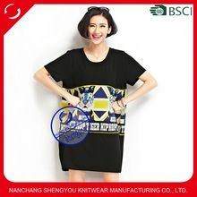 Custom wholesale women black overszied tshirt with printing  Best seller follow this link http://shopingayo.space