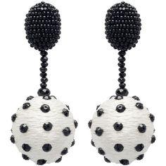 Oscar de la Renta Polka Dot Sequin Ball Earrings ($475) ❤ liked on Polyvore featuring jewelry, earrings, plastic earrings, nickel free earrings, ball earrings, oscar de la renta earrings and anchor earrings
