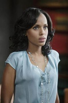 Olivia Pope (Kerry Washington) #Scandal   I'm always amazed at her gorgeous makeup and style on Scandal. Her skin is amazing! Gorgeous.