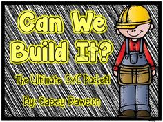 Can We Build It? (The Ultimate CVC Practice Packet) from Keeping Up With Kinder on TeachersNotebook.com -  (281 pages)  - Help your little ones build their CVC word knowledge with this ultimate practice packet! Included in this unit are over 280 pages of CVC practice pages, games and activities to build your students into CVC decoding masters