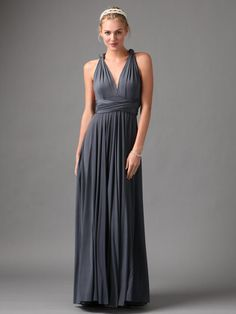 Knit Jersey Infinity Gown by twobirds Bridesmaid $310.00 (dress can be worn in 15 different ways)