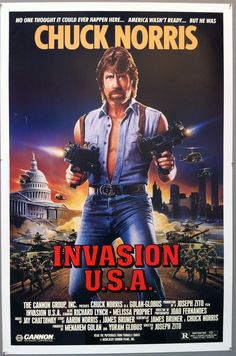 Matt Hunter: If you come back in, I'll hit you with so many rights you'll be begging for a left. Happy Birthday to Chuck Norris! And did you know… Chuck Norris threw a grena… Action Movie Poster, Best Movie Posters, Action Movies, Film Poster, Billy Drago, Movie Photo, I Movie, 80s Movies, Indie Movies