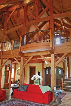 A Frame Home Interiors interior home photography photo of structure from below by randy romano Timber Frame Timber Frame Home Interiors New Energy Works