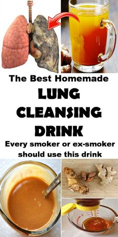 The best lung cleansing drink. #lunghealth #homeremedy