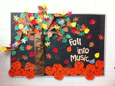 Fall into Music bulletin board for your music classroom