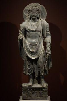Undated, probably 3rd century, Gandhara, Maitreya, schist, private collection