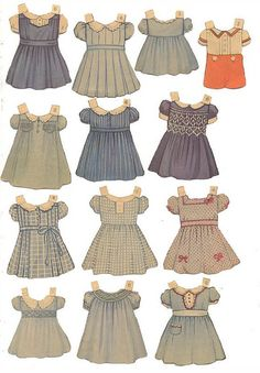 olgainoue:  queen holden paper dolls' outfits, 1930 not to forget paper dolls