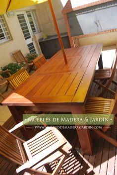 muebles de madera para patio exterior