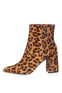 Bottines léopard à talons évasés HEART