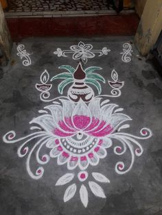 Simple Rangoli Designs Images, Rangoli Designs Latest, Rangoli Designs Flower, Rangoli Border Designs, Rangoli Ideas, Rangoli Designs With Dots, Rangoli Designs Diwali, Beautiful Rangoli Designs, Diwali Rangoli