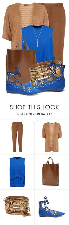 """ROYAL AND TAN BROWN (1)"" by queenrachietemplateaddict ❤ liked on Polyvore featuring 3.1 Phillip Lim, Dorothy Perkins, Alexander Wang, Louis Vuitton, ALDO, Gucci, Bangles, Tan, cardigan and RoyalBlue"
