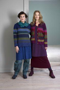Gudrun Sjödéns Herbstkollektion 2014 - Wie gefällt euch der Mustermix Ulla-Stina mit seinen bunten Farben auf Pullover und Strickjacke?