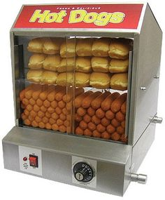 The Dogpound Hotdog Steamer - easy to rent from a party rental store and adds great ambiance #designsponge #dssummerparty