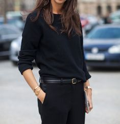 An incredibly chic way to wear all black