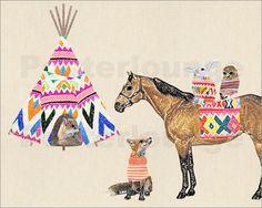 GreenNest - Horse, Fox, rabitt and owl