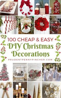 100 Cheap and Easy DIY Christmas Decorations Christmas Crafts Pin ? Simple Christmas, All Things Christmas, Christmas Holidays, Christmas Music, Christmas Ideas, Christmas Vacation, Christmas Carol, Diy Christmas Projects, Christmas Lights
