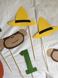 A personal favorite from my Etsy shop https://www.etsy.com/listing/246976972/curious-george-photo-props-birthday