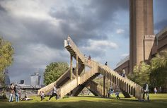 Endless stairs outside Tate Modern - Visual produced by Cityscape Digital