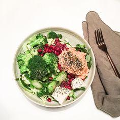 De dage, hvor jeg kommer sent hjem, må maden ikke tage for lang tid, men modsat orker jeg heller ikke, at gå på kompromis med den næring jeg gerne skulle have fra et måltid. Den her grønne skål er derfor blevet en fast rutine, og ingredienserne har jeg stort set altid liggende i mit køleskab.