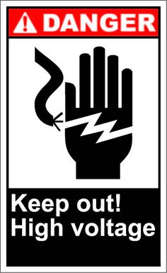 Keep out high voltage $1.64 #signs