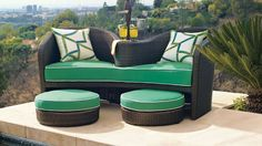 Malibu Lounge and Ottomans Frontgate 2014 Outdoor Book.