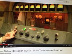 Old Collins AM Transmitter now used as an Amateur Radio AM transmitter by W0VMC